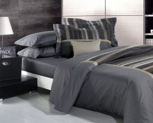 Linge de lit avec housse de couette à motif