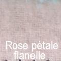 Rose pétale flanelle