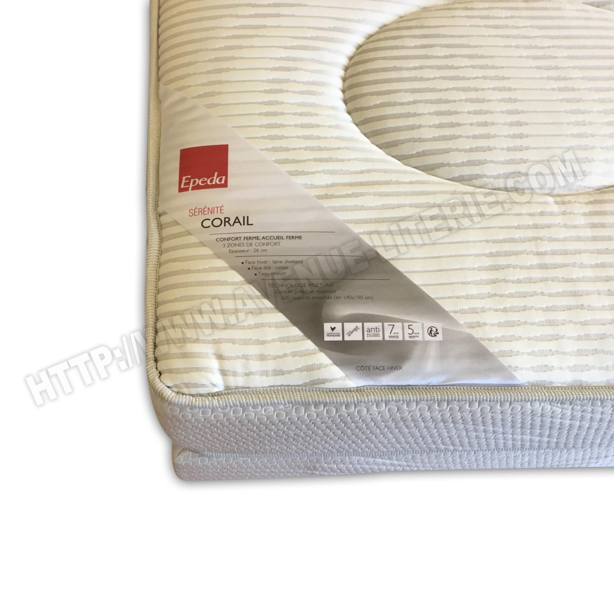 matelas corail ep da 140x190. Black Bedroom Furniture Sets. Home Design Ideas