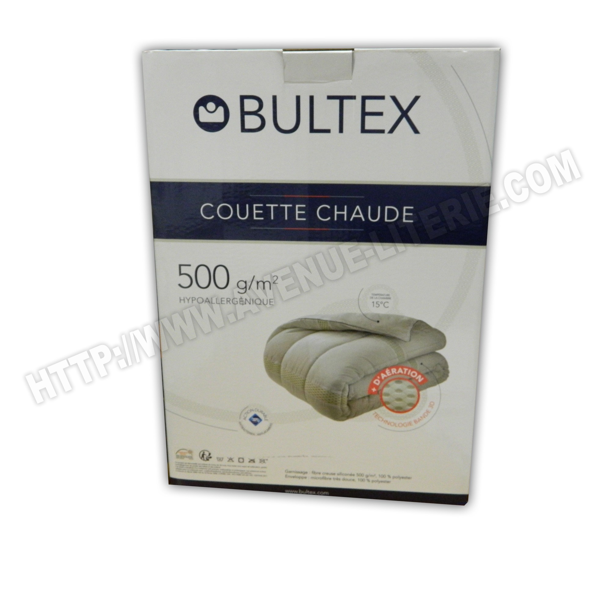 couette chaude 500g bultex 220x240. Black Bedroom Furniture Sets. Home Design Ideas