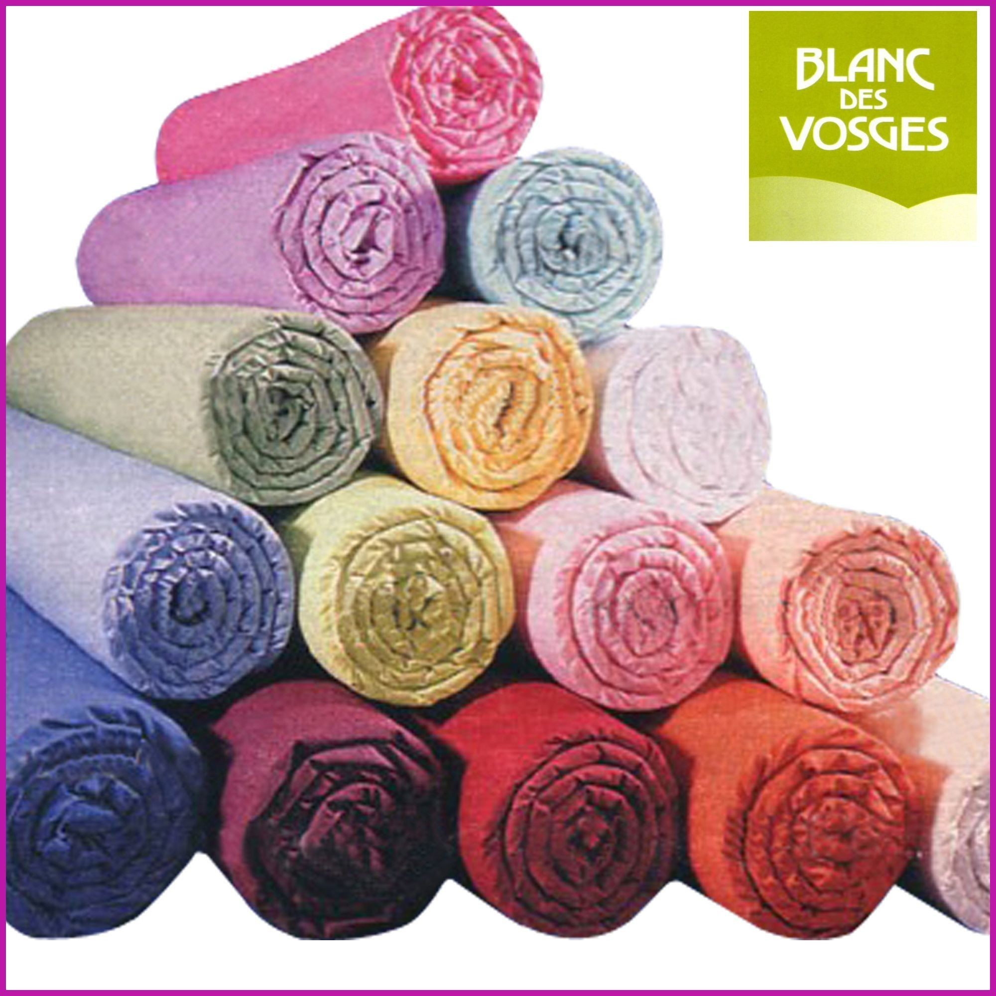 acheter drap housse 100 coton blanc des vosges 100 x 190 1 pers blanc coton bdv pas cher. Black Bedroom Furniture Sets. Home Design Ideas