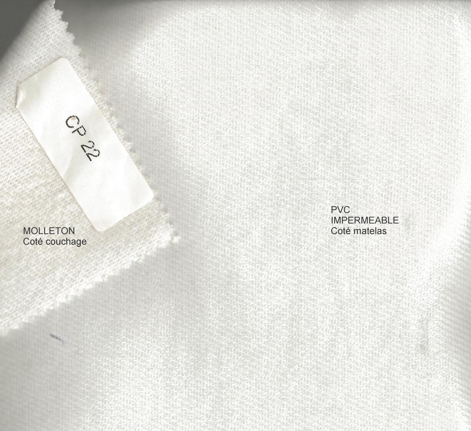 acheter prot ge matelas imperm able coton pvc blanc des vosges 80 x 190 1 pers pas cher. Black Bedroom Furniture Sets. Home Design Ideas