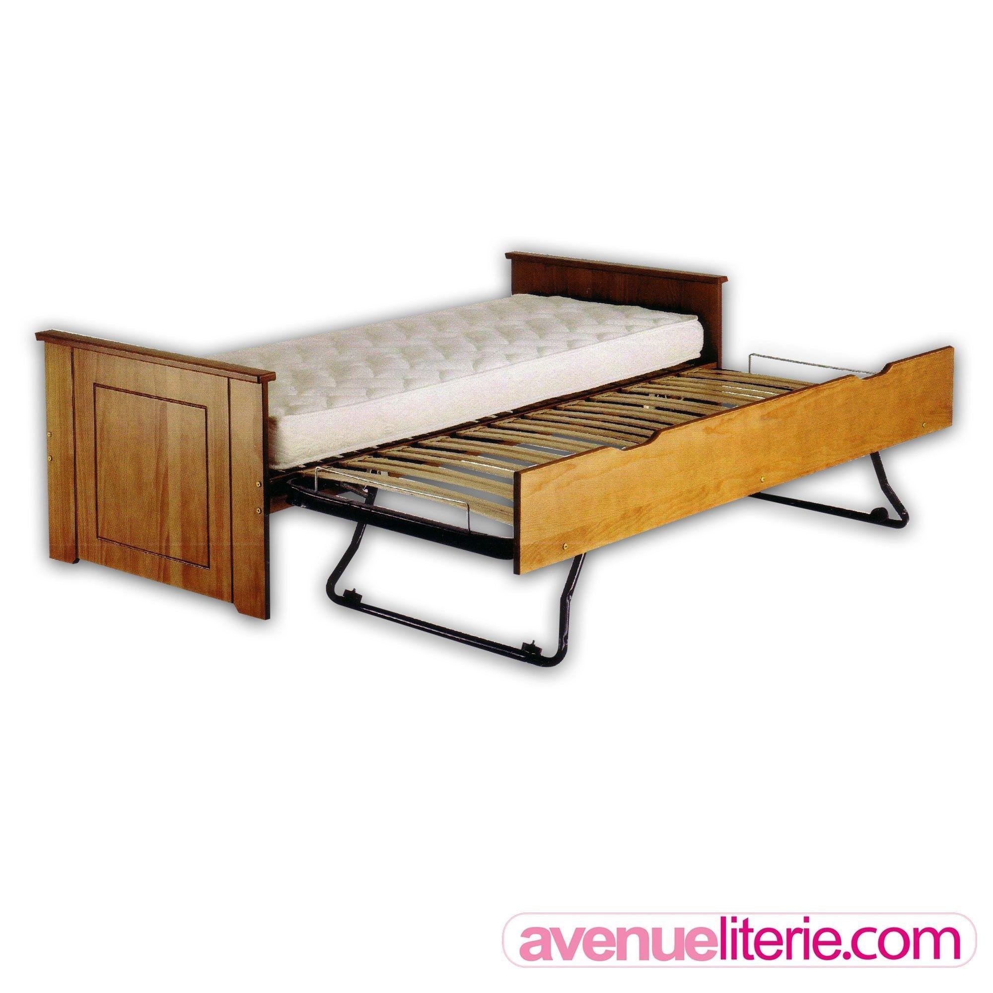 acheter lit gigogne bois pas cher avenue literie. Black Bedroom Furniture Sets. Home Design Ideas