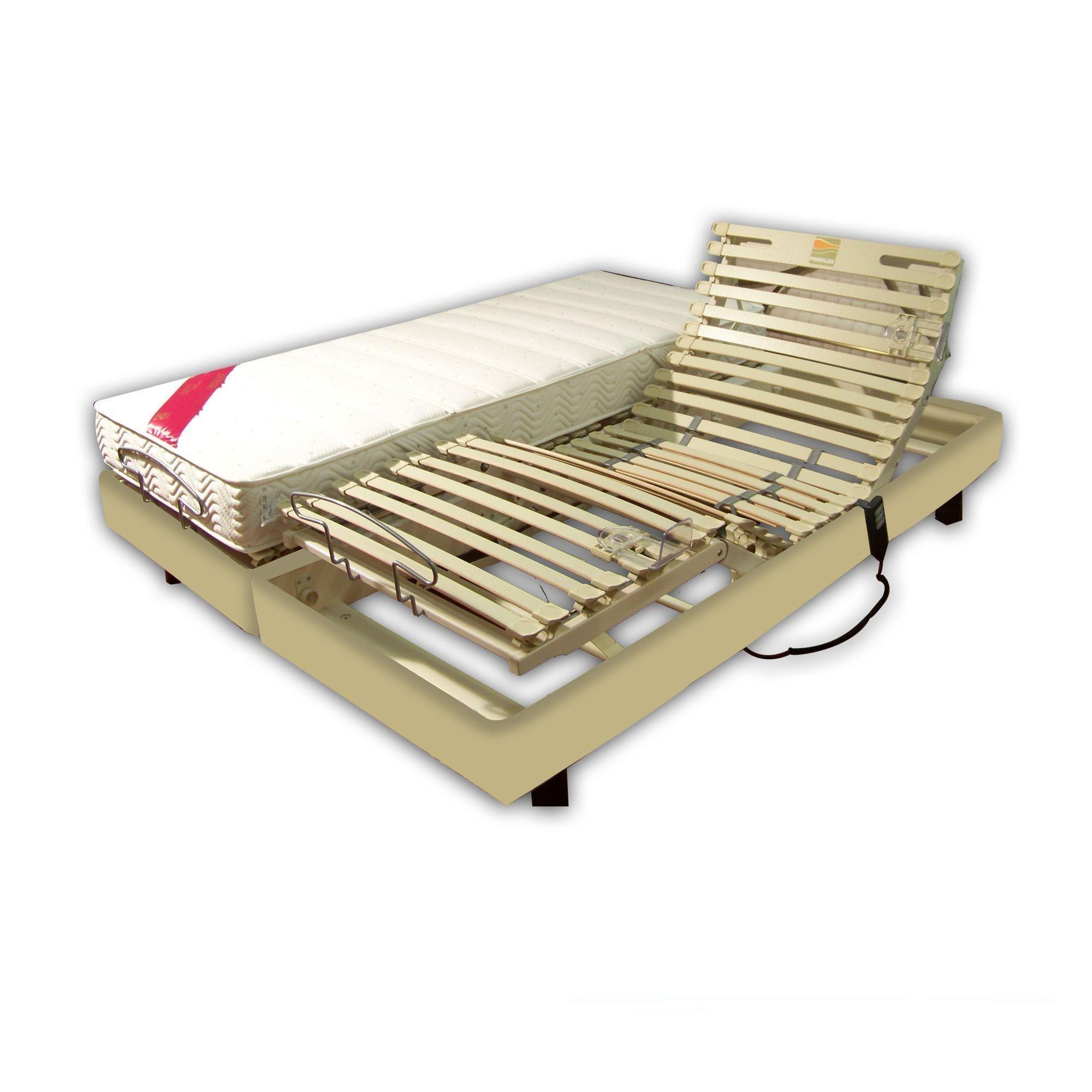 vente ensemble relaxation latex 2x90x200 clips simili cuir ecru pas cher avenue literie. Black Bedroom Furniture Sets. Home Design Ideas