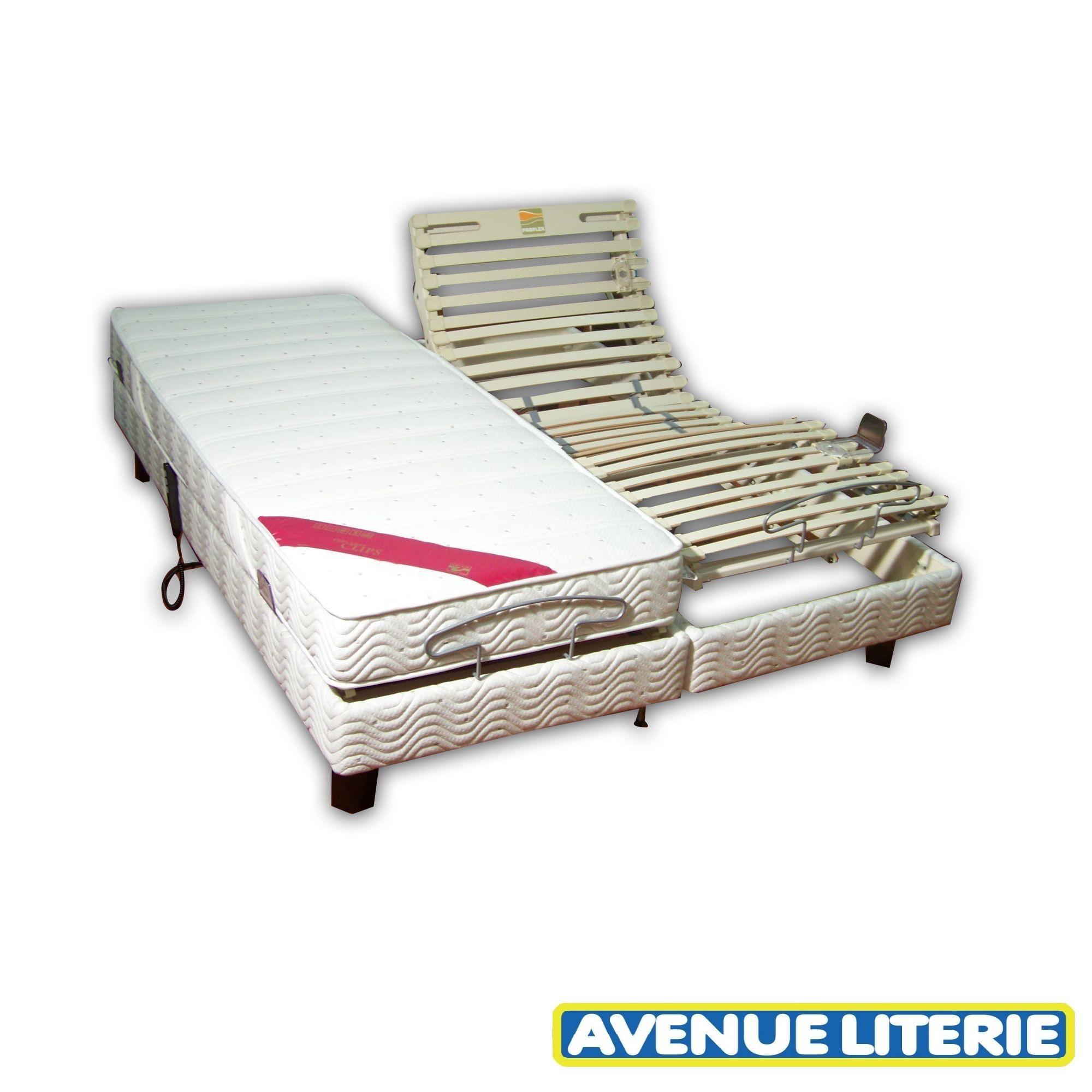Achat lit lectrique 2x90x200 velda new proflex clips pas cher avenue literie - Lit electrique 2x90x200 ...