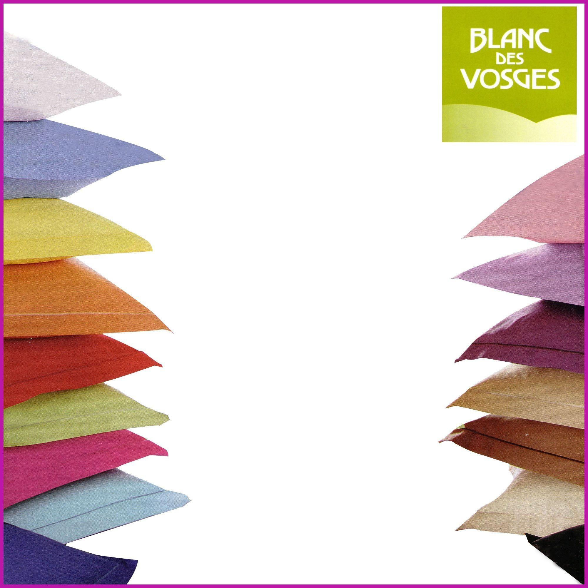 achat taie 100 coton blanc des vosges pas cher avenue literie. Black Bedroom Furniture Sets. Home Design Ideas
