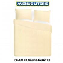 Housse de couette 280x260 polycoton ivoire