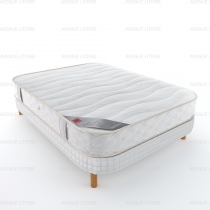 Ensemble matelas + sommier demi corbeille 4 coins Ecorce Epeda 140x190