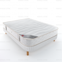 Ensemble matelas + sommier demi corbeille 2 coins Ecorce Epeda 140x190