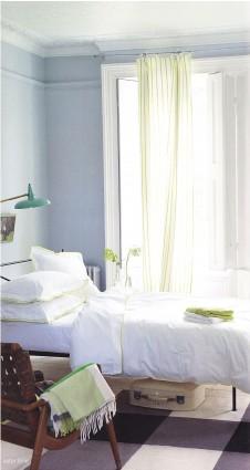 Housse de couette 260 x 240 Astor Blanc/Lime Designers Guild