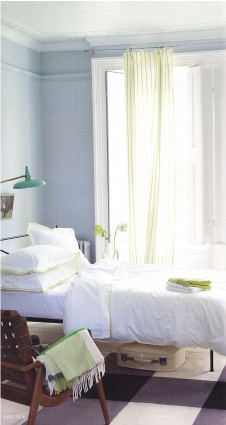Taie 50 x 75 Astor Blanc/Lime Designers Guild