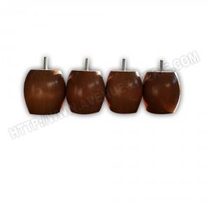 jeu de 4 pieds bois boule chene moyen h 9.5 cm