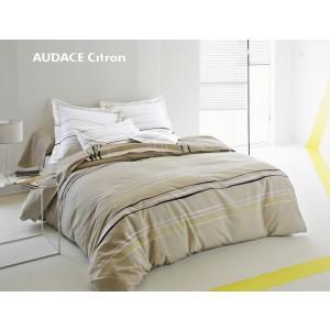 Drap plat 280x320 Audace citron Blanc des Vosges
