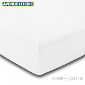 Drap Housse Uni Blanc doux Anne de Solène 1
