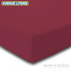 Drap Housse Uni Bourgogne Anne de Solène 1