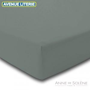 Drap Housse Uni Brume Percale Anne de Solène