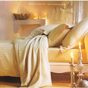 Drap plat 280 x 320 Divine Chanvre Blanc des Vosges
