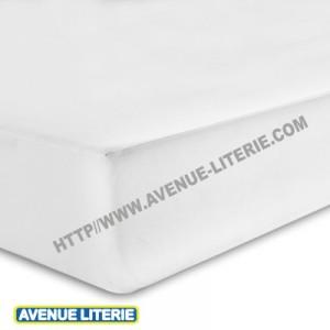Drap Housse 200 x 200 blanc, coton de Blanc des Vosges