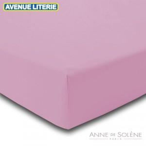 Drap Housse Uni O de rose Percale Anne de Solène 90 x 190 (1 pers) O de rose
