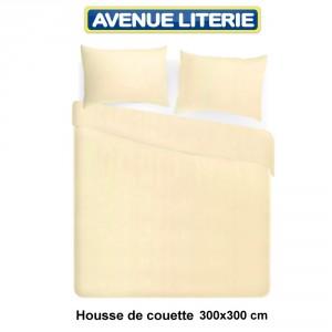 Housse de couette 300x300 polycoton ivoire