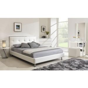 Lit blanc design sabrina 140x190 1