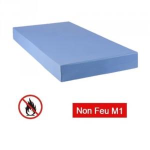 Matelas M1 non feu collectivité Bleu 120x190