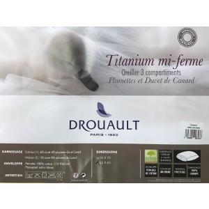 Oreiller Titanium mi ferme 65x65 Drouault