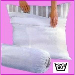 Protection Traversin 100% Coton Blanc des Vosges
