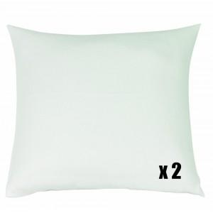 Lot de 2 Protèges Oreillers Coton Blanc des Vosges 50 x 73 Blanc