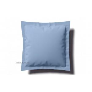 Taie Uni Azur Percale Anne de Solène 65 x 65