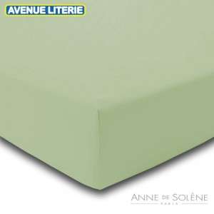Drap Housse Uni Zeste Percale Anne de Solène 1