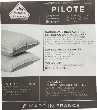 Oreiller Pilote Pyrenex 65x65