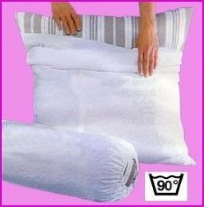 Protection Oreiller 100% Coton Blanc des Vosges 65 x 65 Blanc