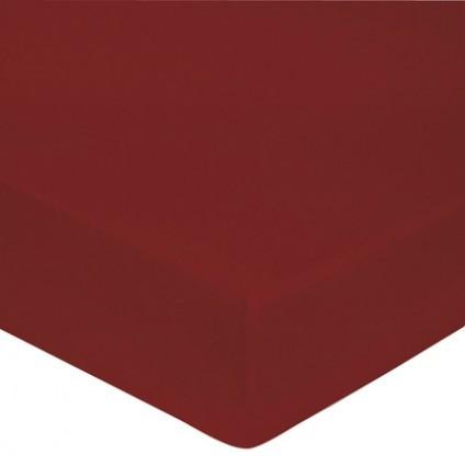 Drap Housse Satin de Coton Blanc des Vosges 160 x 200 Rouge