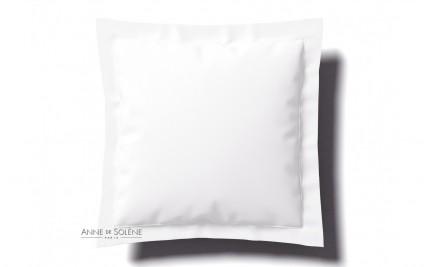 Taie Uni Blanc Percale Anne de Solène 65 x 65