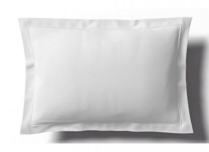 Taie Uni Blanc Percale Anne de Solène 50 x 75
