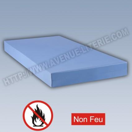 Matelas M1 non feu collectivité Bleu 140 x 190