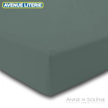 Drap Housse Uni Argile Percale Anne de Solène