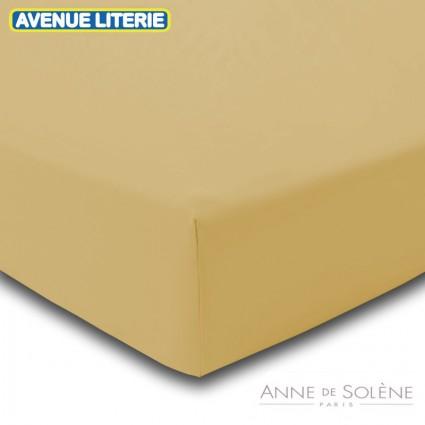 Drap Housse Uni Blé Percale Anne de Solène