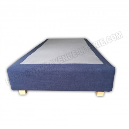 Sommier Boxspring 90x190 bleu marine