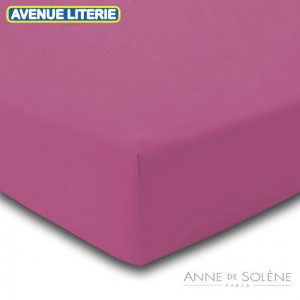 Drap Housse Uni Clématite Percale Anne de Solène