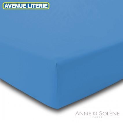 Drap Housse Uni Nattier Percale Anne de Solène 160 x 200 (2 pers) Nattier