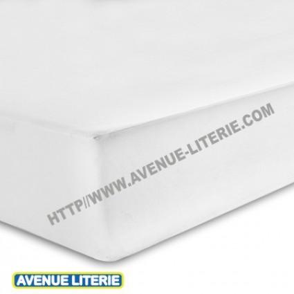 Drap Housse 160 x 200 blanc coton de Blanc des Vosges
