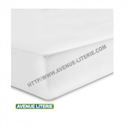Drap Housse 200 x 200 blanc coton de Blanc des Vosges