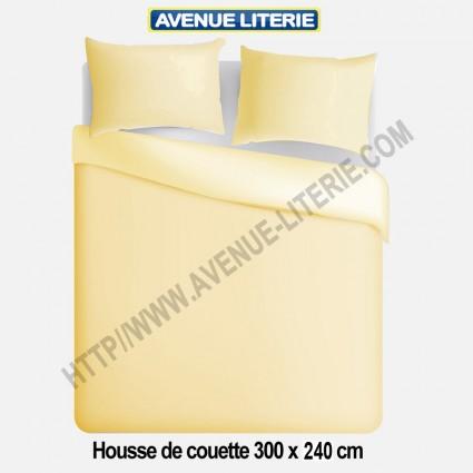 Housse de couette 300x240 polycoton ivoire