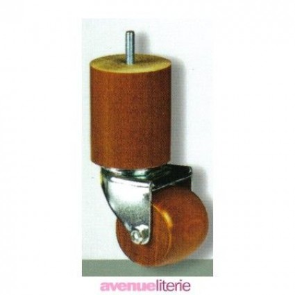 Pieds Cylindre Merisier 15 cm
