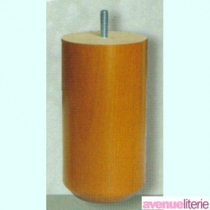 Pieds Cylindre Merisier 17 cm