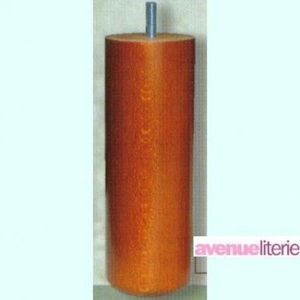 Pieds Cylindre Merisier 20 cm