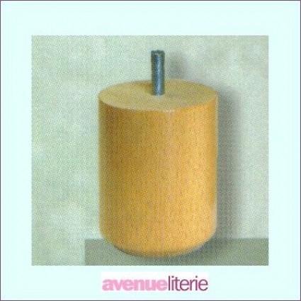 Pieds Cylindre Naturel 9 cm