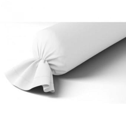 Taie Traversin Uni Blanc Percale Anne de Solène 43 x 240